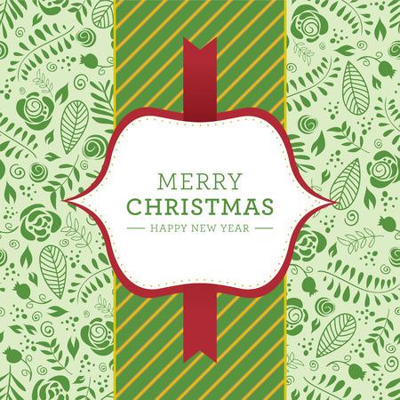 christmas greeting: Christmas greeting card. Illustration