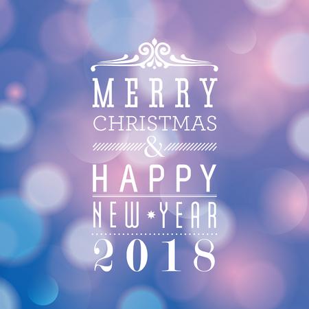 Vrolijk Kerstfeest en Gelukkig Nieuwjaar card design. Perfect als uitnodiging of aankondiging.