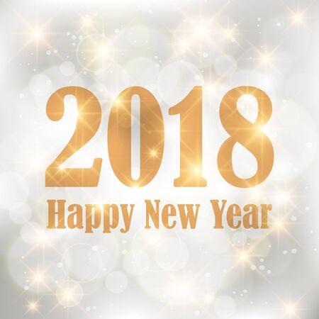 Gelukkig nieuw jaar 2018 pictogram
