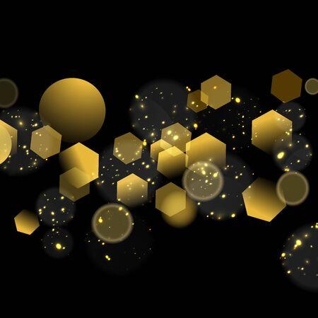 Achtergrond van Kerstmis van Glittery de gouden abstracte.