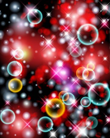 Glittery lights abstract Christmas background.