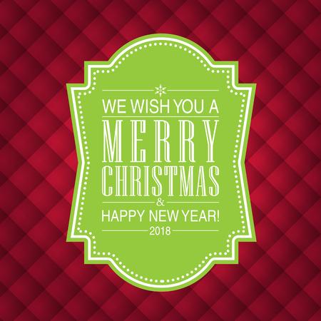 Vrolijke Kerstmis en gelukkig nieuwjaarskaartontwerp. Perfect als uitnodiging of aankondiging.