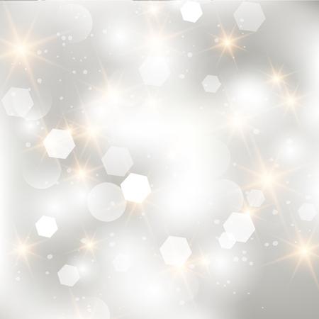 Glittery steekt zilveren abstracte Kerstmisachtergrond aan.