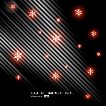 Abstracte helder glitter donkere achtergrond. Elegante winter achtergrond illustratie. Stock Illustratie