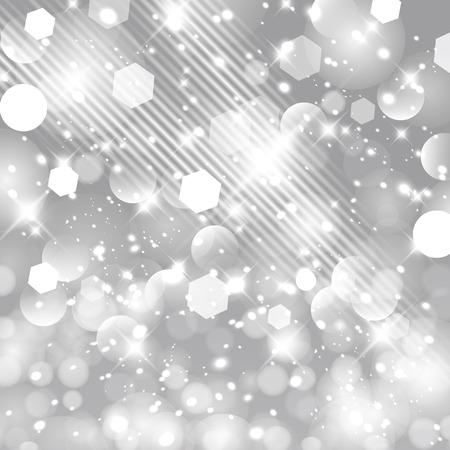 Glittery steekt zilveren bokeheffect Kerstmis ontwerpmalplaatje aan.