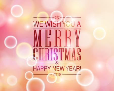 Kerst en Nieuwjaar kaart ontwerp sjabloon.