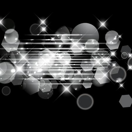 Abstracte sparkle glittery licht zilveren bokeh effect ontwerpsjabloon.