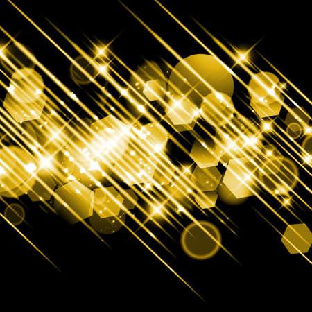 Golden glittering Christmas background.