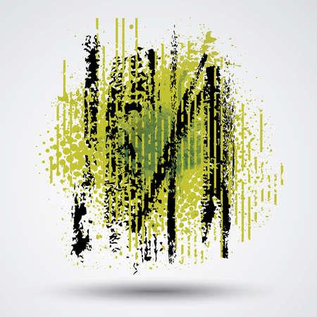 Figured brush strokes brush and ink. 矢量图像