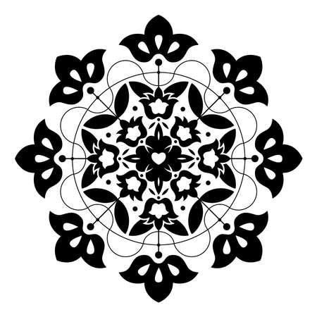 Floral vintage ornate element design.
