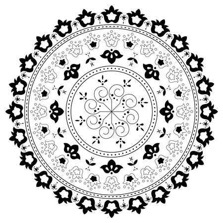 Vintage ornate element with floral motif.