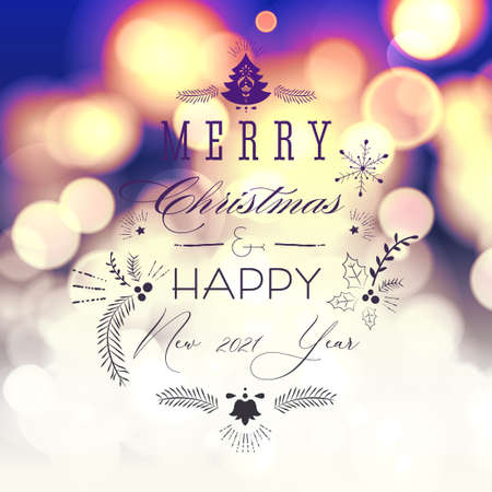 Glittery lights silver abstract Christmas background. Ornate element design. 矢量图像
