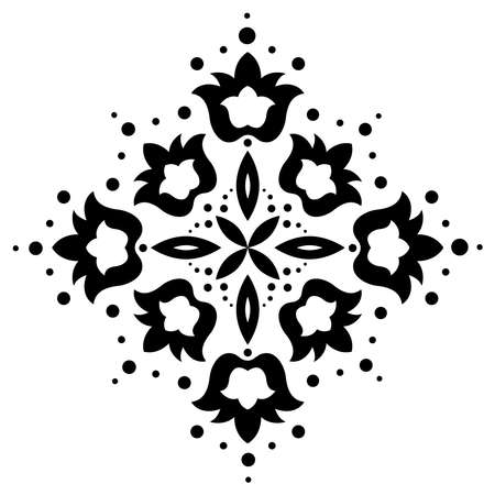 Vintage ornate element with floral motifs.