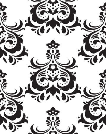 Damask seamless pattern background.Elegant luxury texture for wallpapers.