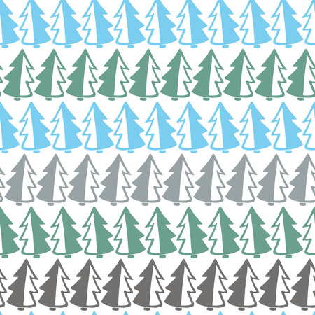 minimalist style: Pattern with Christmas trees in a minimalist style. Illustration