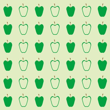 green apples: Green apples seamless vector pattern.