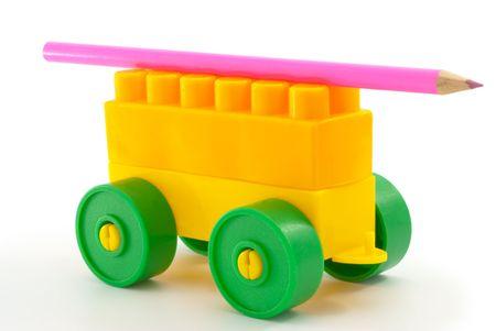 handcart: Pencil keenly sharpened rests handcart
