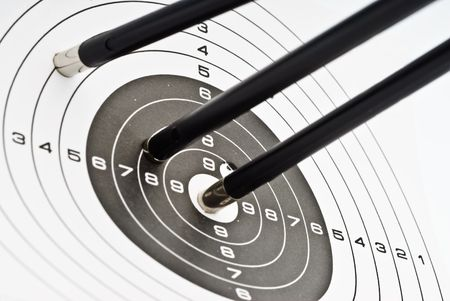 Target with arrow- triumph weapon photo