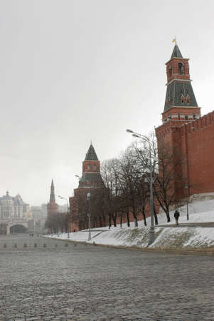 inclement weather: Inclement weather- the snow on Red Square