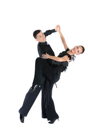 Dance couple- dancing and sports Stok Fotoğraf