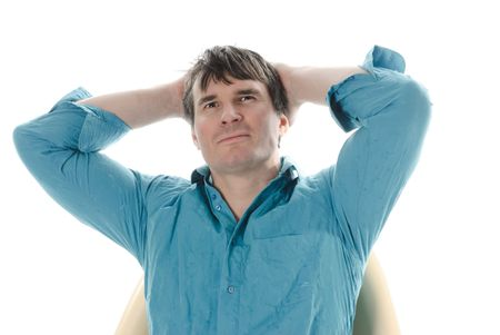 Gray haired man Stock Photo - 6743480