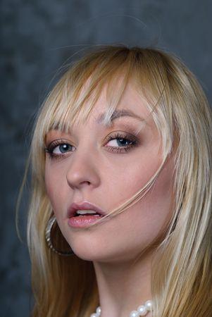 Portrait women blond- fashion model Stock Photo - 6743519