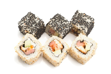 quick snack: Sushi, maki - easy and quick snack in the restaurant