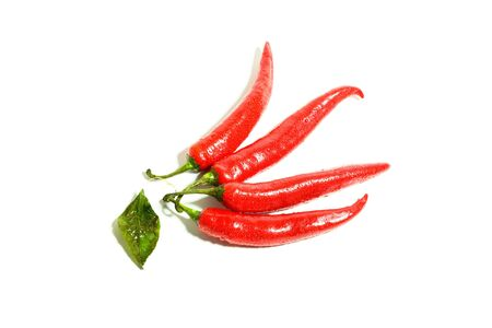 Red hot chili peppers  Macro vegetable  Stock Photo - 17481361