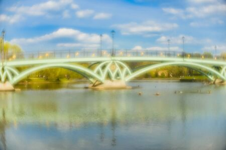 numerous: Pictorial Photography in Tsaritsyno park, Moscow. In taking pictures to use simple objective monocle. Photographic imperfect lens, the presence of numerous aberrations, gives the photos a special lightness and softness at a sufficiently high image detail. Stock Photo
