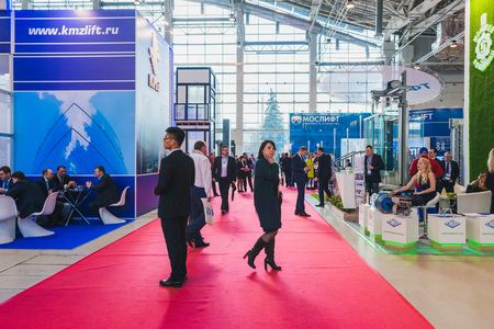 モスクワ、ロシア、VDNH - 2017 年 4 月 25-27 日: ロシア エレベーター週、国際展示会。