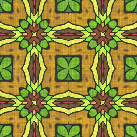 Kaleidoscope- mirrored geometric elements. Artwork- seamless pattern. Mosaic background- ornament graphics.