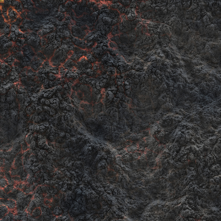 Coal - hot surface. Abstract natural pattern. Glow faded flame- decor wall. Stock Photo