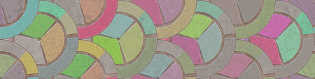 Large file. Stained glass- abstract pattern. Art wall decoration- hot metal grille