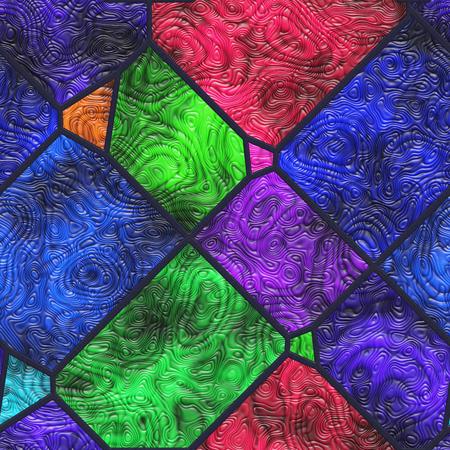 ウォールアート- 自然。ステンドグラス-抽象的なパターン。アート装飾- 金属グリル。