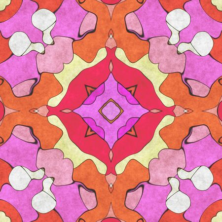 Ornament home decor- sacred geometry. Ornate- art illustration. Abstract kaleidoscope- design wall. To print using napkins and tablecloths