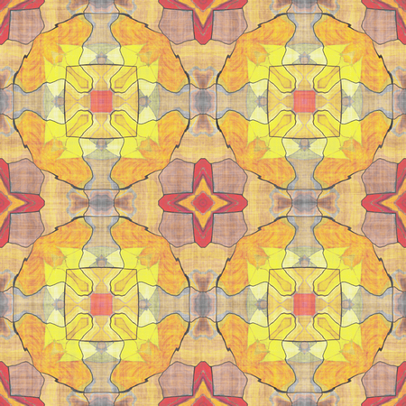 Patchwork fabric.- tracery minimal. Mosaic- seamless textile.