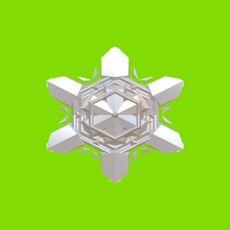 Form silicone. Snowflake- winter background. Christmas holiday- joy and happiness. Decorative ornament- celebrate decor. 3d illustration