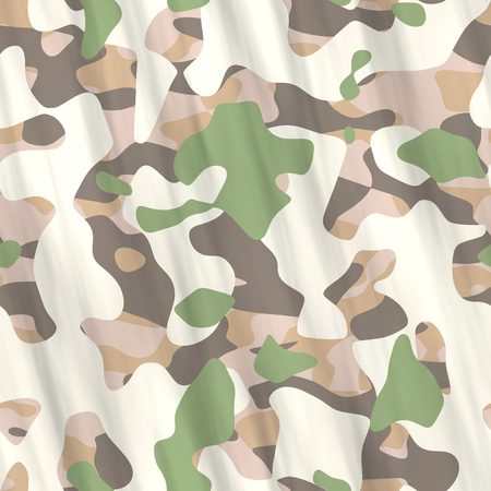 Seamlessillustrations- texture background. Pattern abstract uniform - the camouflage design that hides soldiers from the enemy. Spots on fabrics- camo textile geometric art Banco de Imagens