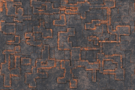 Abstract background- metal engraving, rusty iron. Oxidized material - environmental impact, metallic pattern. Ornament antique- art decoration wall. Stock Photo