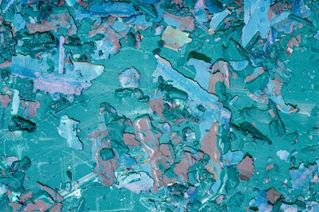 Destroyed texture- old acrylic paint. Crackle surface- abstract pattern 版權商用圖片