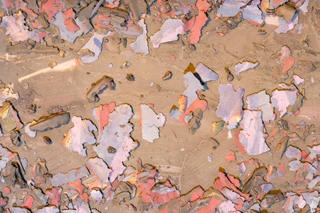 Background weathered paint cracked- destroyed texture. Distress surface- abstract pattern Banco de Imagens