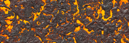 Large file volcanoes. Background lava- seamless hot texture. Danger terrain heat- 3d illustration fluid metal. Burning coals- crack surface magma. Abstract nature pattern- glow faded flame. Banque d'images - 123866454