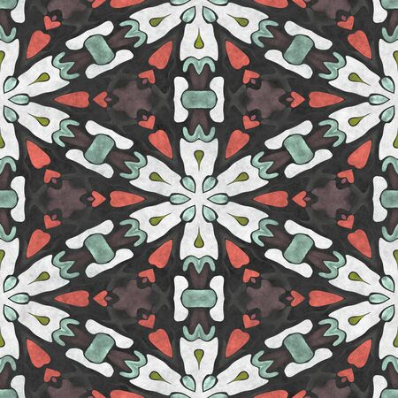 Crystal background- seamless shape. Paper napkin- ornamental carpet. Tablecloth textile- Digital 2D illustration created without reference image