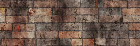 Brick wall- background texture. Seamless 3d illustration- abstract pattern Reklamní fotografie