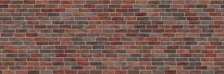 Brick wall- background texture. Seamless 3d illustration- abstract pattern Stock Photo