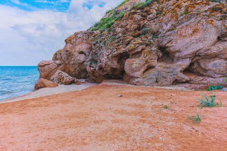 Crimea. Azov sea- nature landscape. Scenery background- vacation destinations Banque d'images