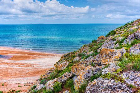 Crimée. Paysage naturel de la mer d'Azov. Fond de paysage - destinations de vacances Banque d'images