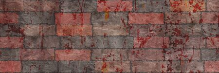 3d illustration art. Brick wall- background texture