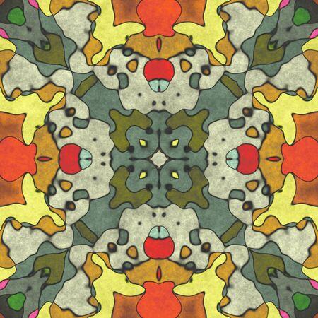 Seamless shape- napkin pattern. Ornamental fantasy- top view. Decoration mosaic- design blank Stok Fotoğraf