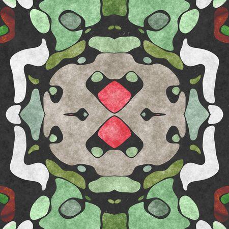 Textile ornate- seamless shape. Paper napkin, ornamental carpet. Tablecloth- textile geometric. Illustration cloth- pattern abstract. Banco de Imagens